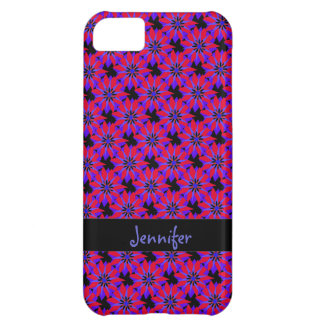 Red & Blue Cutout Snowflakes, Personalized Case For iPhone 5C