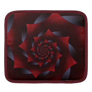 Red & Blue Dark Spiral Fractal iPad Sleeve