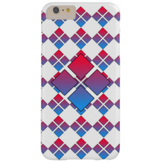 Red Blue Diamond 3D Barely There iPhone 6 Plus Case