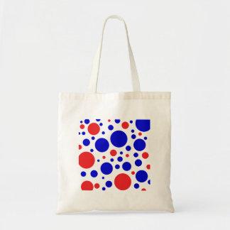 Red & blue dots bag