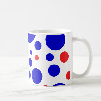 Red & blue dots Mug
