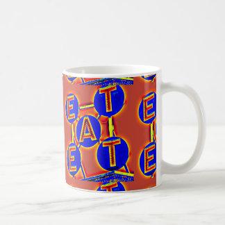 red/blue ear mug