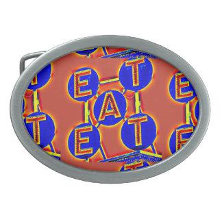 red/blue eat belt buckle
