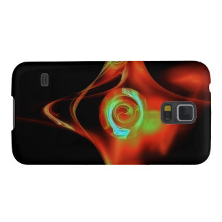 RED BLUE FRACTAL ROSE CASE FOR GALAXY S5