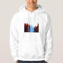 Red Blue Geometric Art Hoodie