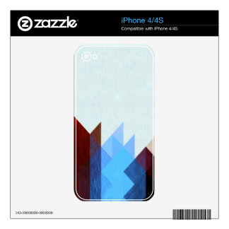 Red Blue Geometric Art Skin For The iPhone 4S