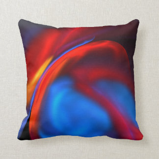 Red/Blue/Gold Abstract Throw Pillow