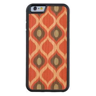 Red Blue Gray Geometric Ikat Tribal Print Pattern Carved® Cherry iPhone 6 Bumper