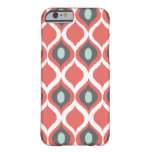 Red Blue Gray Geometric Ikat Tribal Print Pattern Barely There iPhone 6 Case