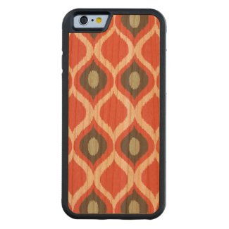 Red Blue Gray Geometric Ikat Tribal Print Pattern Carved® Cherry iPhone 6 Bumper