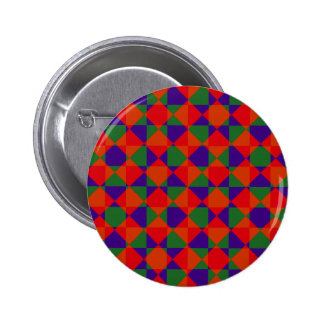 Red Blue Green Check Pattern Button