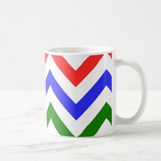 Red Blue Green Chevron Mugs