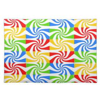 Red, Blue, Green, Yellow Candy Cane Design Placemat