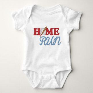 Red Blue Home Run Baseball Saying Kids Cartoon Baby Bodysuit