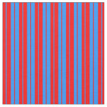 [ Thumbnail: Red & Blue Lined/Striped Pattern Fabric ]