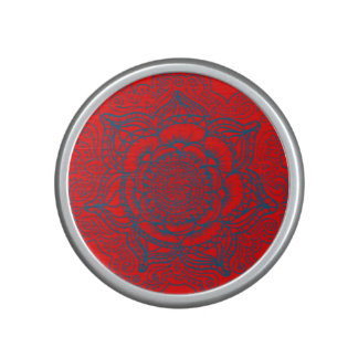 Red Blue Mandala Bluetooth Speaker