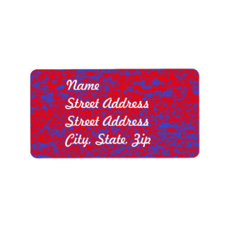 Red & Blue Marble Address Sticker Label