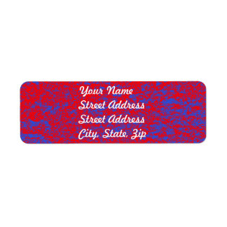 Red & Blue Marble Return Address Sticker Label