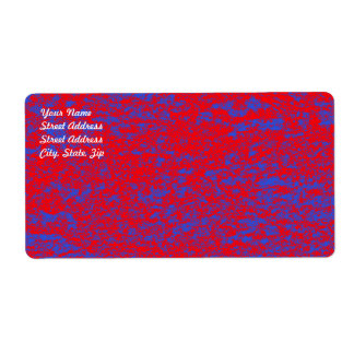 Red & Blue Marble Shipping Label