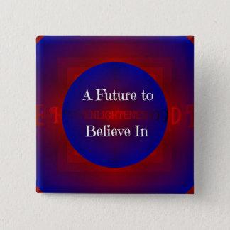 Red Blue Modern Trending Political Slogan Pinback Button