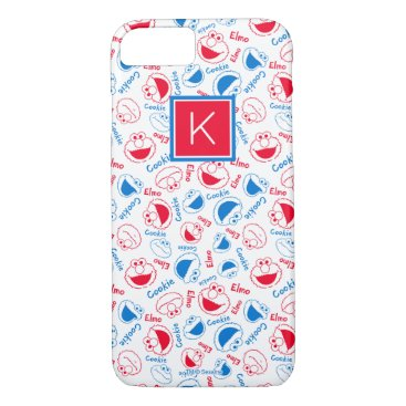 Red & Blue Pattern | Monogram iPhone 8/7 Case