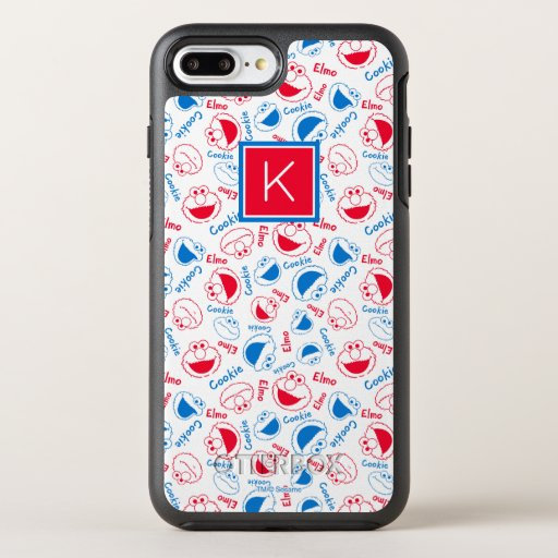 Red & Blue Pattern | Monogram OtterBox Symmetry iPhone 8 Plus/7 Plus Case