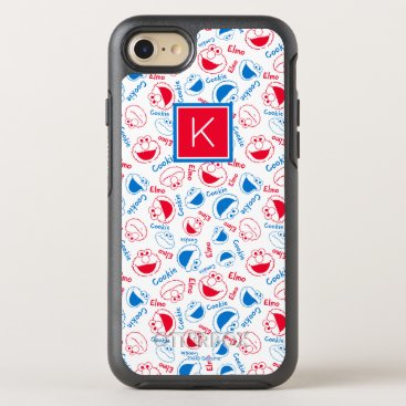 Red & Blue Pattern | Monogram OtterBox Symmetry iPhone 8/7 Case