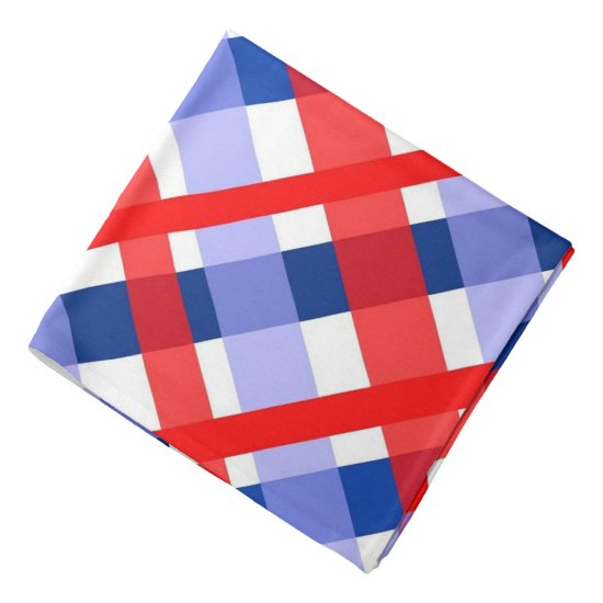 Red & Blue Plaid Patriotic Bandana