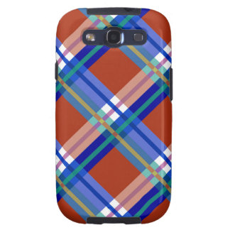 Red Blue Plaids, Checks, Tartans Samsung Galaxy S3 Cover