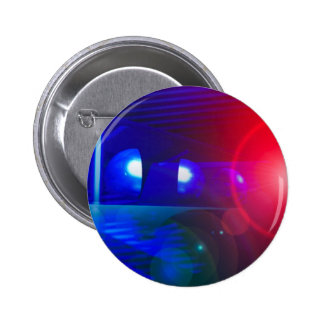 red & blue police lights pinback button
