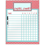 Red & Blue Polka Dot Chore Chart Dry-Erase Whiteboards