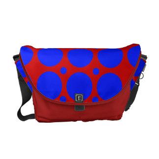 Red Blue Polka Dots Rickshaw Messenger Bag