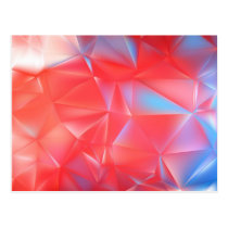 red blue polygon abstract pattern postcard