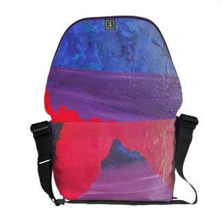 red blue purple cotton messanger bag messenger bags
