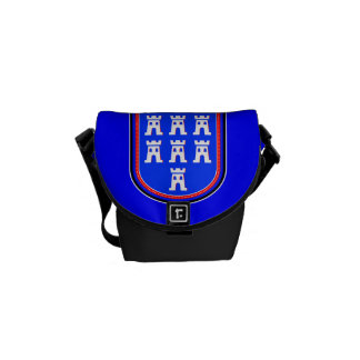 Red Blue Saxonian Sign Courier Bag