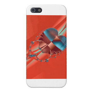Red Blue Sliding Heart iPhone SE/5/5s Case