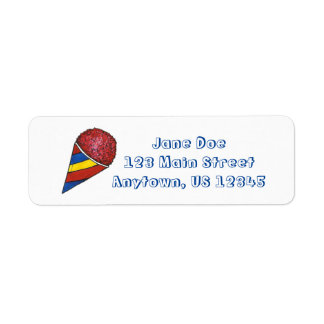 Red Blue Snocone Snow Cone Summer Labels