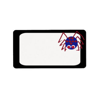 Red Blue Spider Label