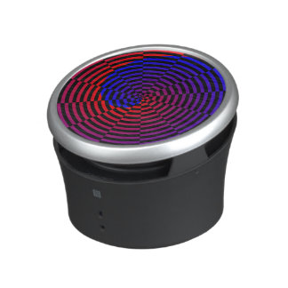 Red & Blue Spiral by Kenneth Yoncich Bluetooth Speaker