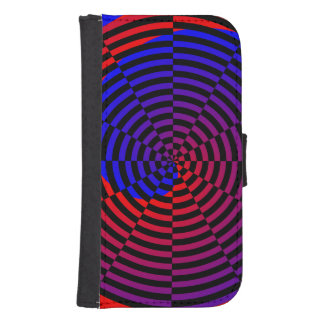 Red & Blue Spiral by Kenneth Yoncich Galaxy S4 Wallet Case