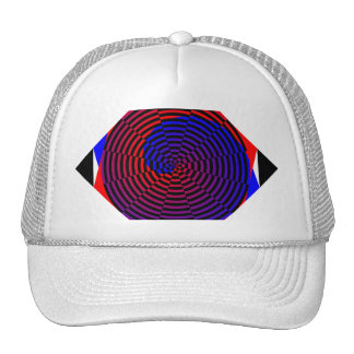 Red & Blue Spiral by Kenneth Yoncich Trucker Hat