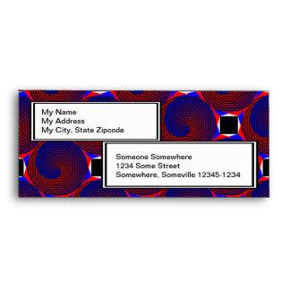 Red & Blue Spiral Envelopes