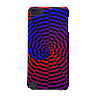 Red & Blue Spiral iPod Touch (5th Generation) Case