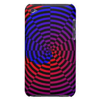 Red & Blue Spiral iPod Touch Cover