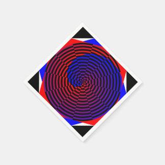 Red & Blue Spiral Paper Napkin