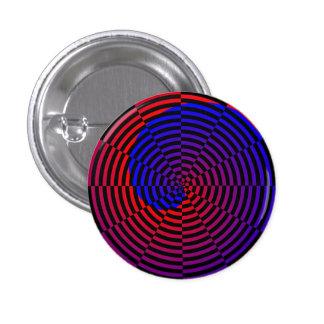 Red & Blue Spiral Pinback Button