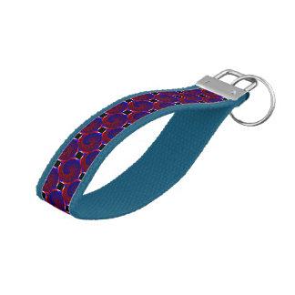 Red & Blue Spiral Wrist Keychain