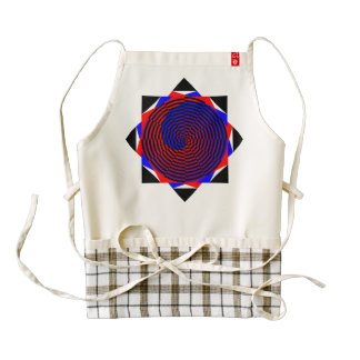 Red & Blue Spiral Zazzle HEART Apron