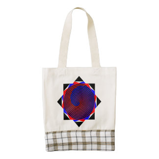 Red & Blue Spiral Zazzle HEART Tote Bag