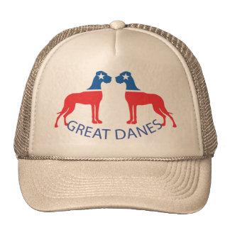 Red Blue Star Dane Series Hats